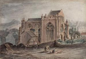 Painting of Trinity College Kirk where Mary was buried