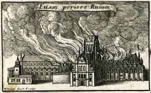 Old St. Paul's burning