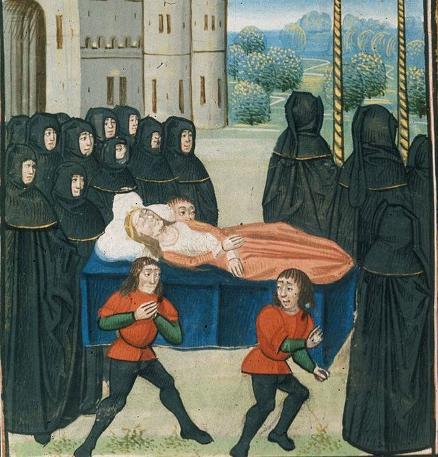Anne of Bohemia, Queen of England Funeral-of-anne-of-bohemia