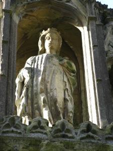 The Eleanor Cross at Hardingstone.  Image by Sara Cockerill