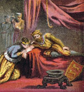 Eleanor saving her husband King Edward while on Crusade