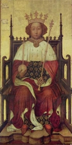 King Richard II of England sitting in the Coronation Chair