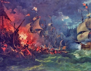 Defeat of the Spanish Armada, 8 August 1588 by Philippe-Jacques de Loutherbourg