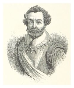 Sir Francis Drake (Illustration by Louis K. Harlow, from Wikimedia Commons)