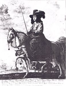 How Arbella might have appeared in disguise on horseback