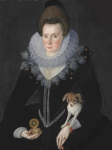 Portrait of Lady Arbella Stuart by Robert Peake the Elder
