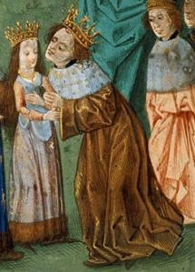 The young Isabella of Valois meets her first husband, King Richard II of England