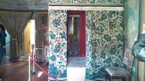 Mary Queen of Scots bedchamber in the James V Tower of the Palace of Holyroodhouse.   Photo by the author