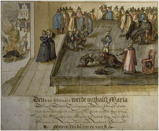 History of Fotheringhay Castle Execution_of_mary_queen_of_scots_created_1613_artist_unknown