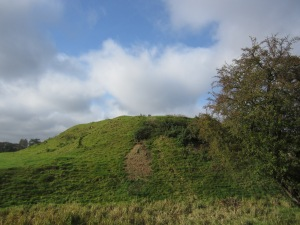 The motte of Fotheringhay Castle (Photo by the author)