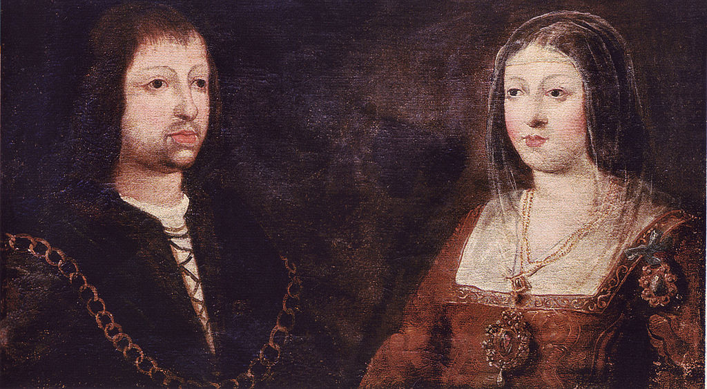 English Ambassadors Visit Queen Isabella of Spain, 1489 1024px-ferdinand_of_aragon_isabella_of_castile