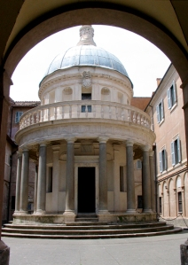 The Tempietto in Rome (Photo by Space Odissey from Wikimedia Commons)