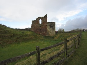 Part of the ruins near the entrance to Tutbury Castle (Photo by the author)