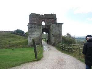 Entrance gate to Tutbury Castle (Photo by the author)