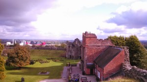 View of Tutbury Castle from the