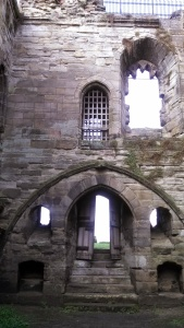 Interior of the South Tower of Tutbury Castle (Photo by the author)