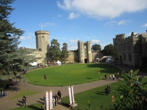 Warwick Castle where Anne was born.  (Photo by the author)