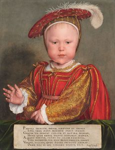 King Edward VI as a child by Hans Holbein the Younger