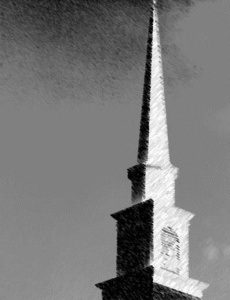 large church steeple