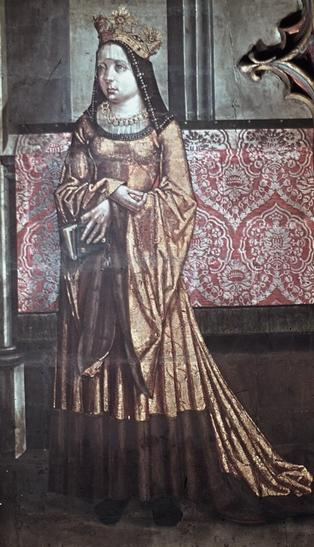 Queen Anne de Foix-Candale of Bohemia and Hungary from the Master of Litoměřice Altarpiece, 1509