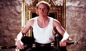 """Steve Waddington as Edward in the movie adaptation of Christopher Marlowe's play """"Edward II"""", which focused heavily on the downfall of Piers Gaveston"""