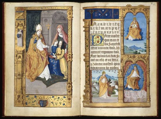 Pages 1-2 of Claude's primer, c. 1505