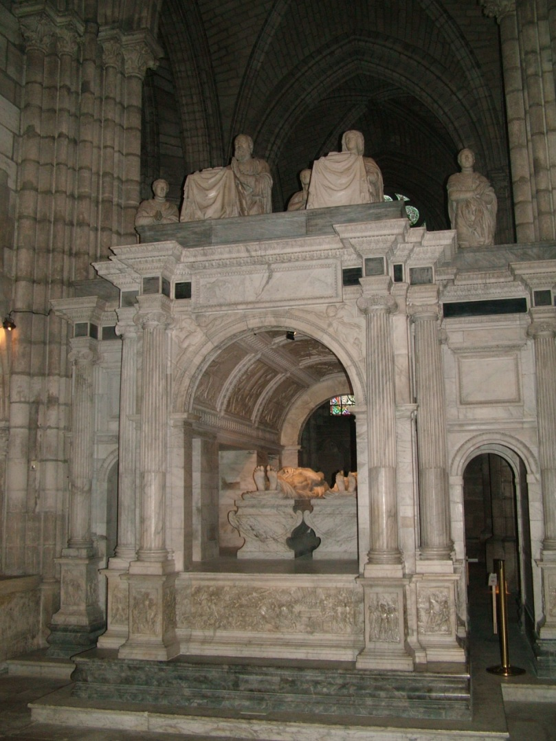 The tomb of Queen Claude and King François I in the Basilica of Saint Denis