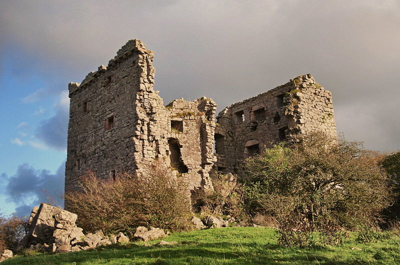 Ruins of Arnside Tower, Cumbria.  Photo by Joyen69 from Wikimedia Commons