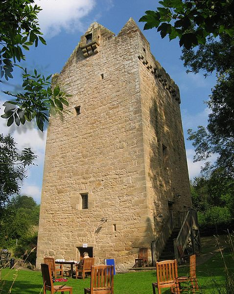 Tower of Hallbar, South Lanarkshire, Scotland.  Photo by User:Supergolden from Wikimedia Commons