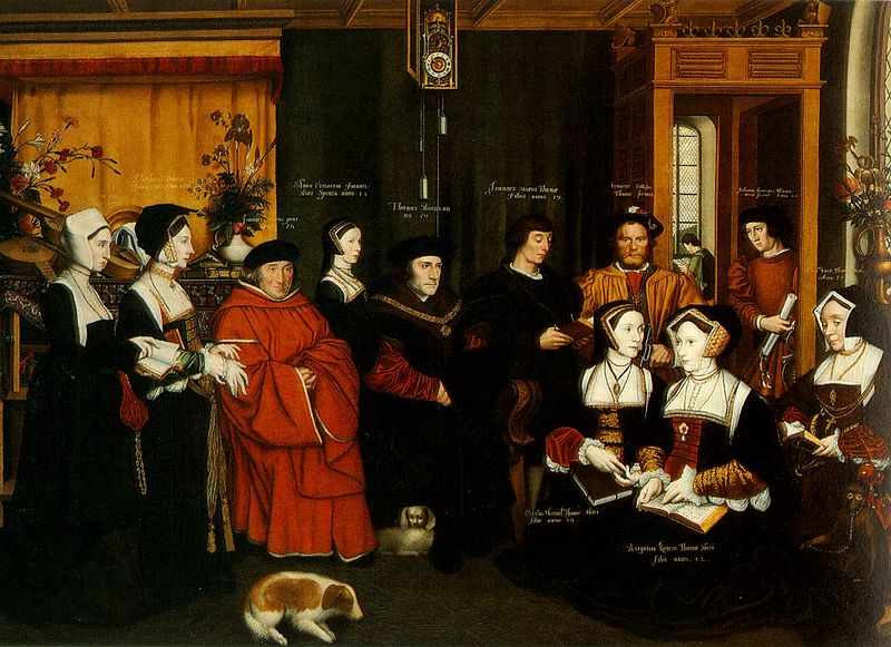 More family portrait after a sketch by Hans Holbein