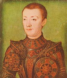 Dauphin François, the third Duke of Brittany.  He would die before his father and his brother Henri inherited the throne of France.