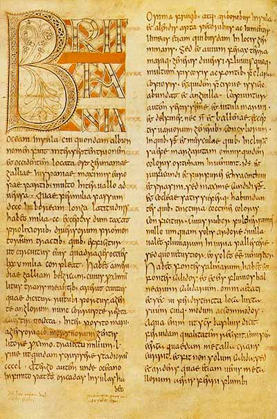 "Page from Bede's ""Ecclesiastical History of the English People"""