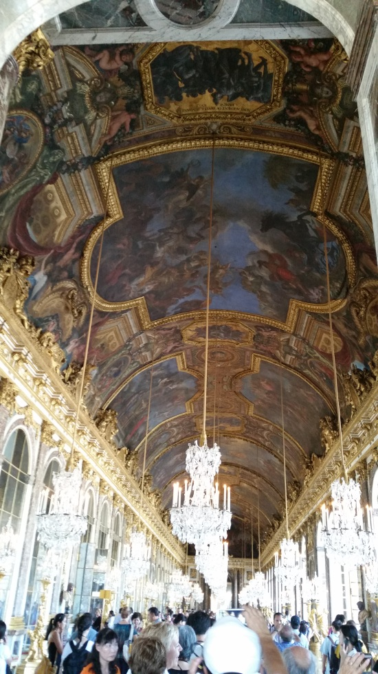 Hall of Mirrors in the Château of Versailles (Photo copyright of The Freelance History Writer)
