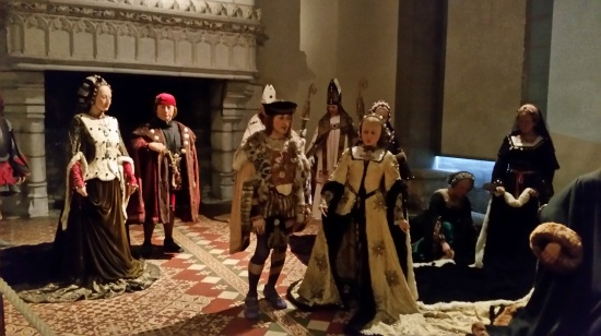 Tableau of the wedding of King Charles VIII of France and Anne of Brittany at the Château of Langeais (Photo copyright of The Freelance History Writer)