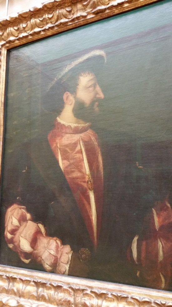 Portrait of King Francis I of France by Titian which hangs in the Louvre (Photo copyright of The Freelance History Writer)