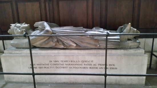 Tomb of Rollo in Rouen Cathedral.  (Photo is copyright of the author)