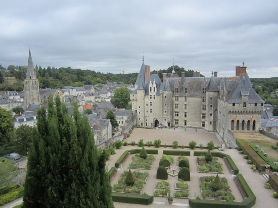 "The gardens of the Château of Langeais modeled after Anne of Brittany's ""Book of Hours"" (Photo copyright of The Freelance History Writer)"