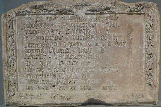 Tombstone of Antoinette de Maignelais (Photo by DeuxPlusQuatre from Wikimedia Commons)