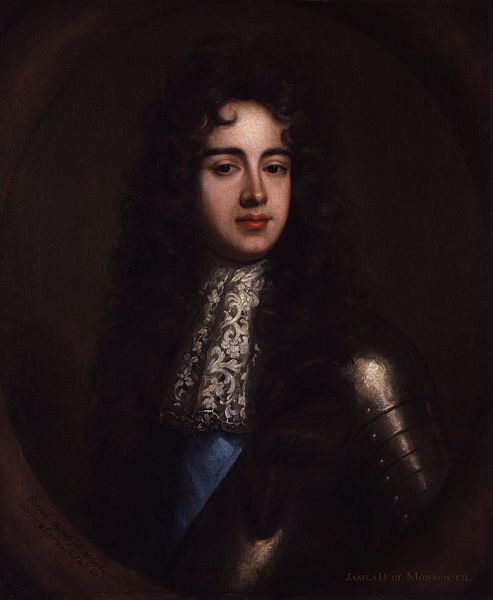 James Scott, Duke of Monmouth, Lucy's Son.  Portrait after William Wissing from the National Portrait Gallery, c. 1683