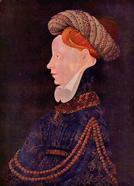 Portrait of a Dame by Franko-flämischer Meister, formerly att. to Pisanello, circa 1410