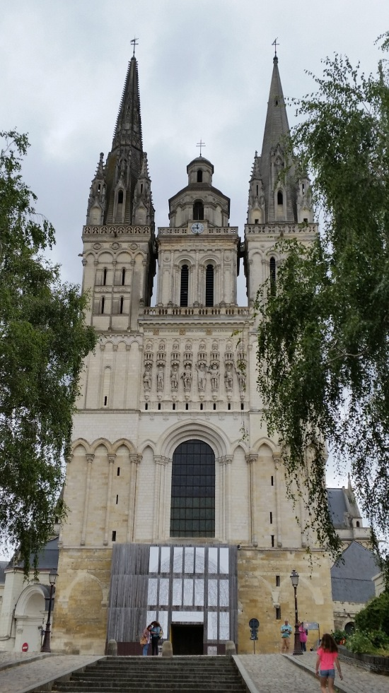 Angers Cathedral where Margaret is buried  (Photo copyright of The Freelance History Writer)