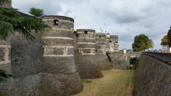 Chateau D'Angers in the Loire Valley of France where Margaret lived (Photo copyright of The Freelance History Writer)