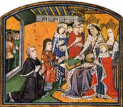 Prince Edward with his parents King Edward IV and Queen Elizabeth
