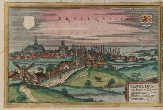 Image of Brouwershaven from 1582