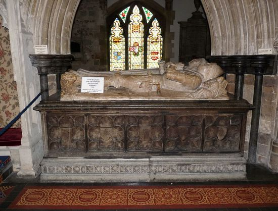 Tomb of Margaret Beauchamp and her second husband John Beaufort, Duke of Somerset  (Photo by Memorino from Wikimedia Commons)