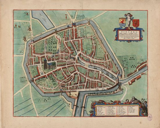 Map of Zierikzee, Holland from 1649