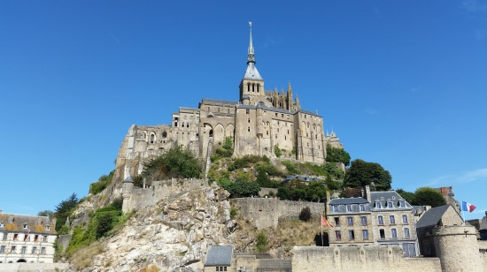 The monastery of Mont-Saint-Michel  (Photo copyright of The Freelance History Writer)