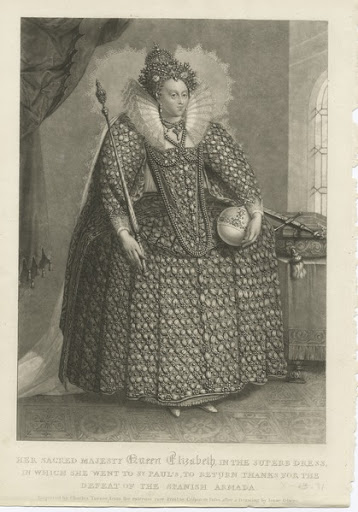 engraving of Elizabeth I