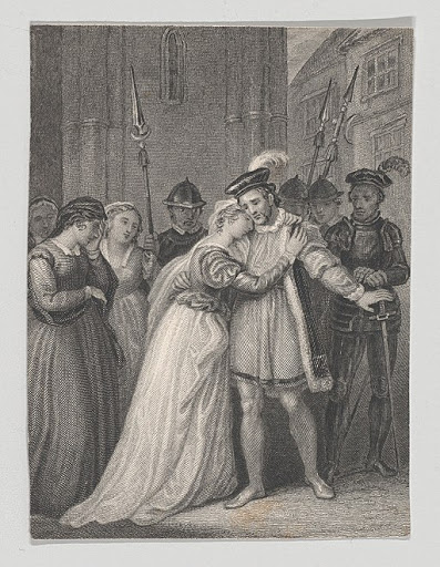 engraving of Richard II play