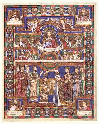 330px-Krönungsbild._Evangeliar_Heinrichs_des_Löwen